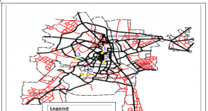 map indicating road segments on delhi map