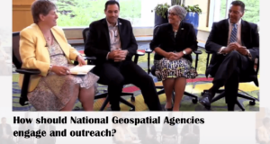 How should National Geospatial Agencies engage and outreach?