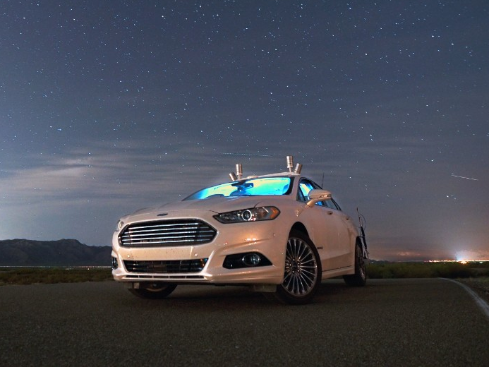 """Ford recently took a test drive of its Fusion Hybrid autonomous research vehicle, which uses LiDAR sensors to navigate in the dark. Despite using headlights, the vehicle worked fine. According to Ford, the car sensors are reliable enough that it worked even in the pitch black of Ford's Arizona Proving ground. Further, the company adds, that the car's LiDAR system, and its virtual driver software can steer """"flawlessly around winding roads."""""""