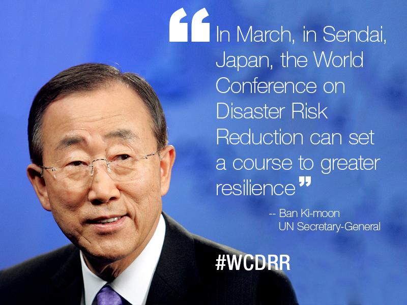 Ban Ki-moon on Disaster Risk Management Conference