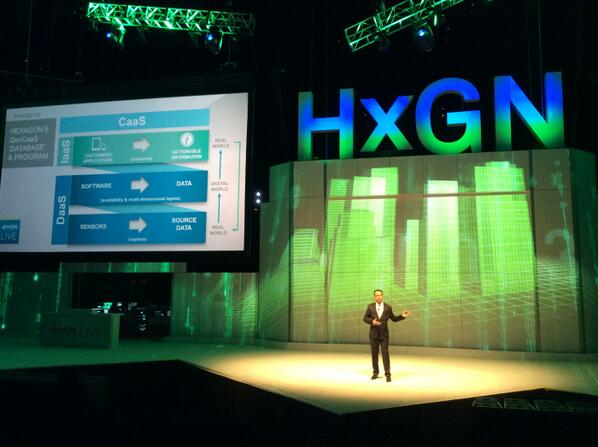 Geospatial Content as a Service being announced by Mladen Stojic, President of Hexagon Geospatial at HxGNLIVE