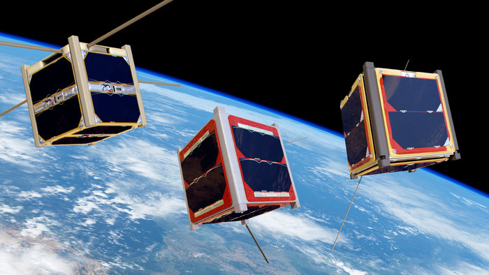 ESA launched three CubeSats built by three teams of students on Monday. The satellites were released into space as part of ESA?s Education Office ?Fly Your Satellite!? programme.
