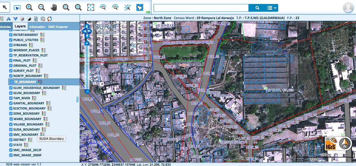 Surat Municipal Corporation Makes Its Web Gis Services Public