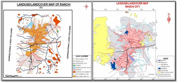 Location Of Ranchi In India Map.Impact Assessment Of Urbanisation In Indian City Of Ranchi