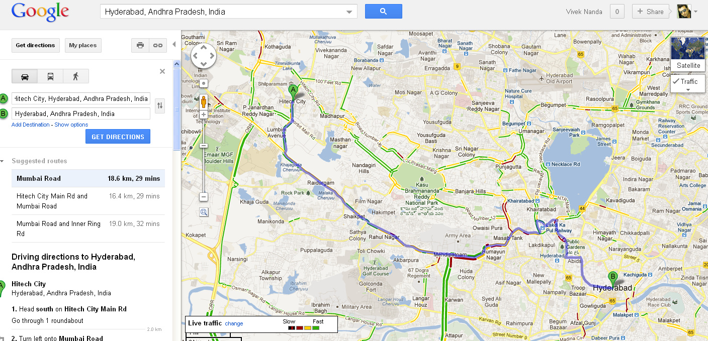 Google maps add 12 cities for real time traffic updates geospatial google maps courtesy city hyderabad gumiabroncs Image collections