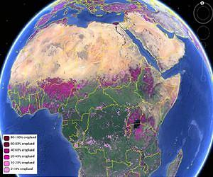 Global Cropland Map for Africa