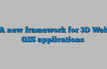 A new framework for 3D Web GIS applications