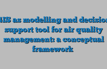 GIS as modelling and decision support tool for air quality management: a conceptual framework