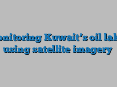 Monitoring Kuwait's oil lakes using satellite imagery