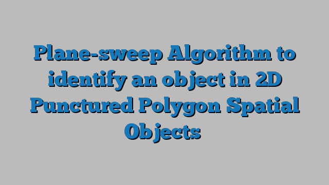 Plane-sweep Algorithm to identify an object in 2D Punctured Polygon