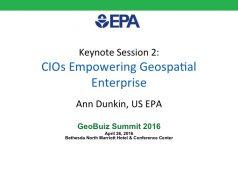 CIOs Empowering Geospatial Enterprise