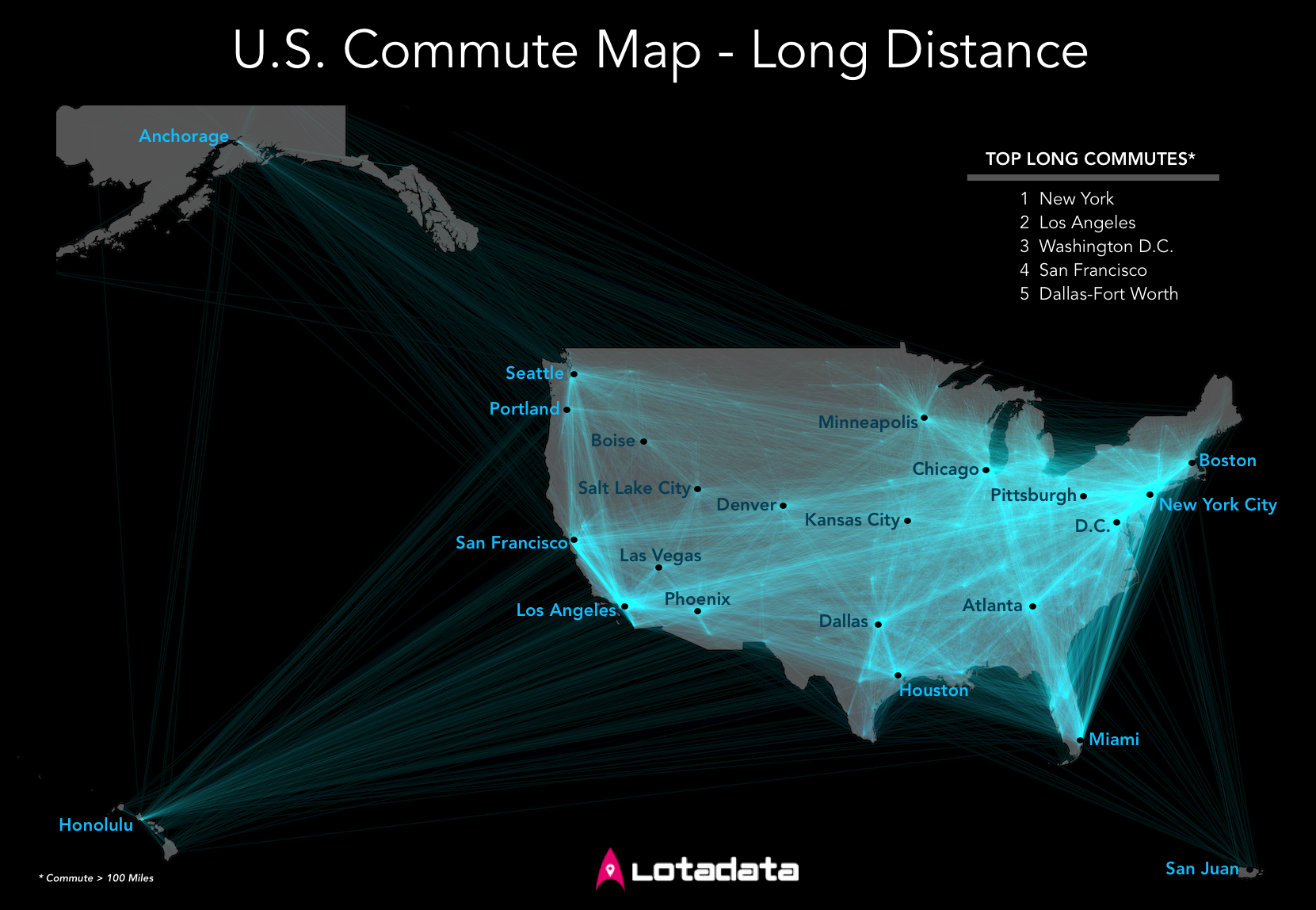 U.S. Commute Map - Long Distance