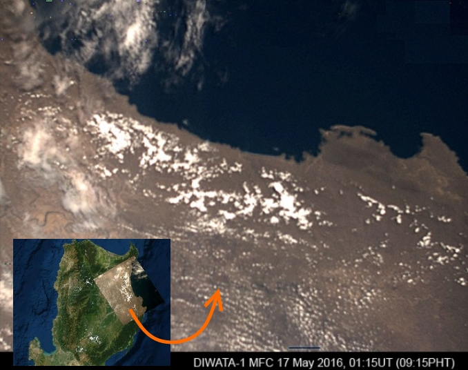 The first microsatellite of Philippines, DIWATA-1, has successfully captured images during testing from orbit