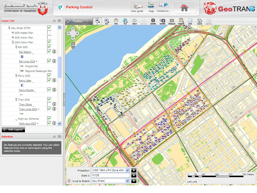 Abu Dhabi City Municipality is planning to form the roads layout data standards using GIS