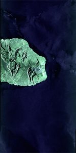 Réunion Island taken by first Sentinel-1 satellite images sent via the European Data Relay System's world-leading laser technology in high orbit