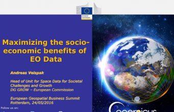 Maximizing the socio-economic benefits of EO Data