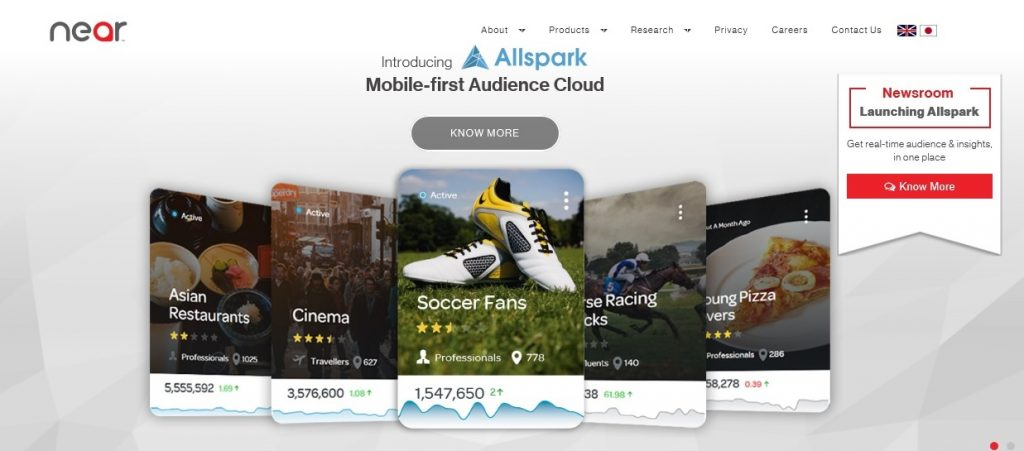Near has announced the launch of its Mobile-First Audience Cloud, Allspark