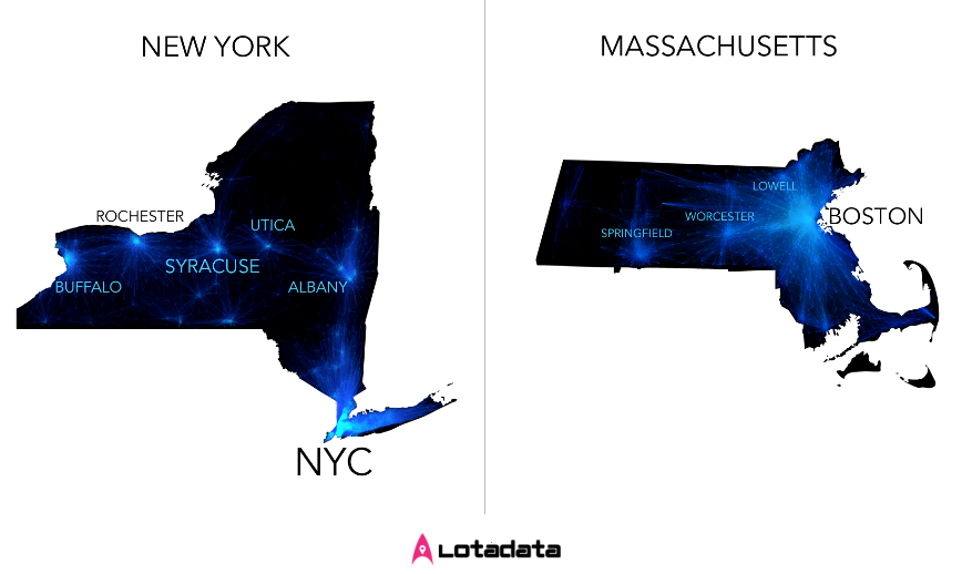 Places like New York and Massachusetts are classified as Galaxies
