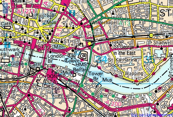 Ordnance Survey has produced a map of modern London in the original OS style