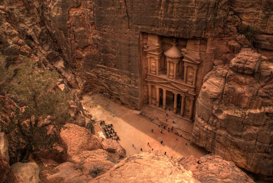 Researchers have discovered a large new monumental platform close by Petra World Heritage site