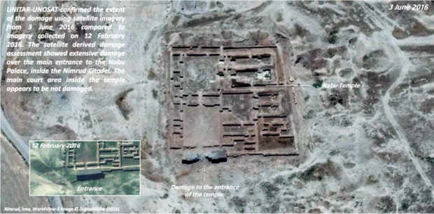 Satellite imageries have confirmed the destruction of the ancient Nabu temple in Iraq