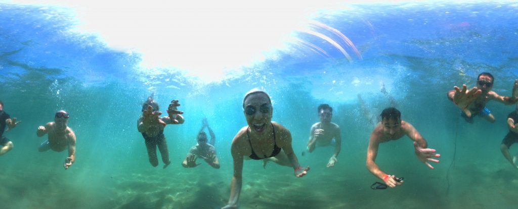 Arithmetica has demonstrated the creative potential of 360 degree imaging by capturing underwater selfies on a 'YouTube Beach' at the international Cannes Lions Festival