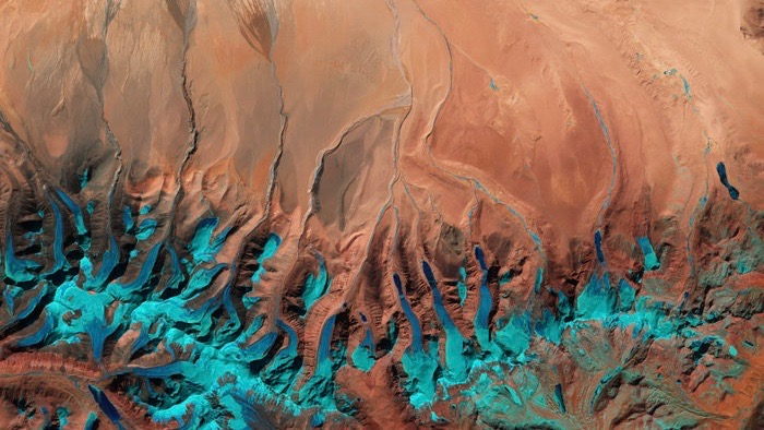 Satellite image captured by Sentinel-2A of the Tibetan Plateau, has become the Earth observation image of the week for ESA