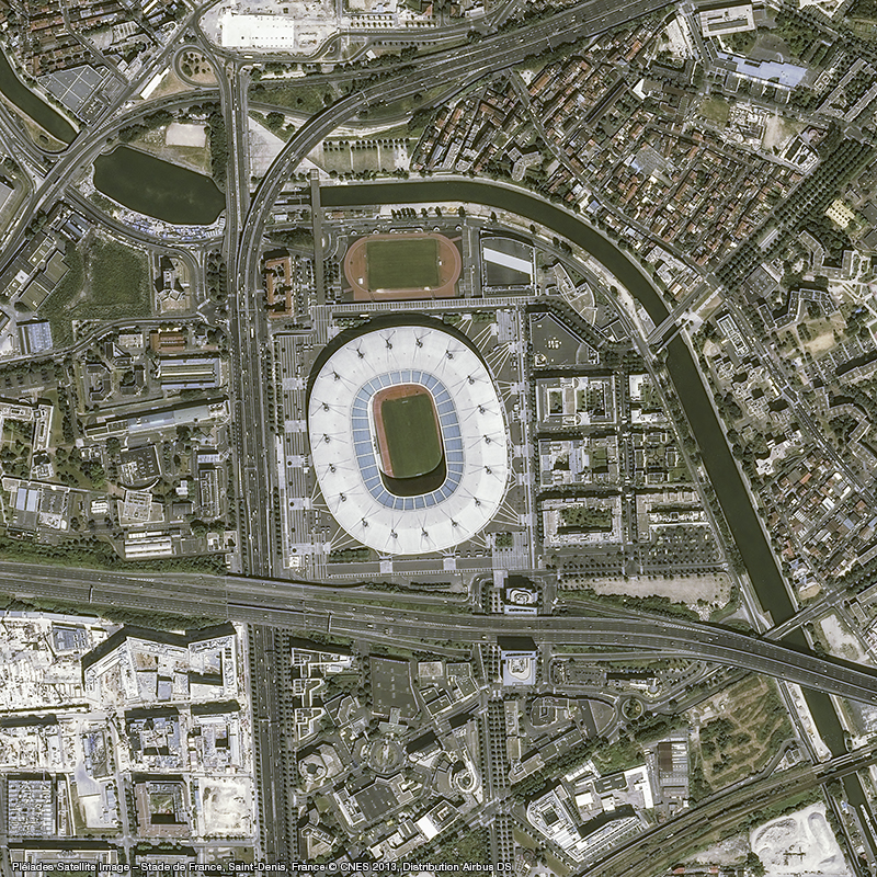The Stade de France floats like a halo at a height of 46m has capacity of 81,338 spectators.