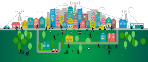 smart city solutions - Smart city illustration. Courtesy: callmeramzo