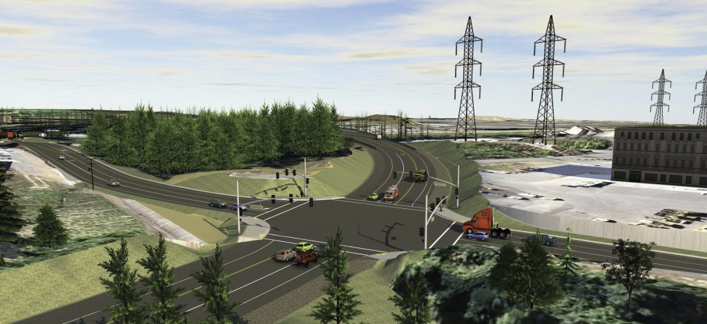 InfraWorks 360 image of the Westside Bypass in Washington County, Oregon