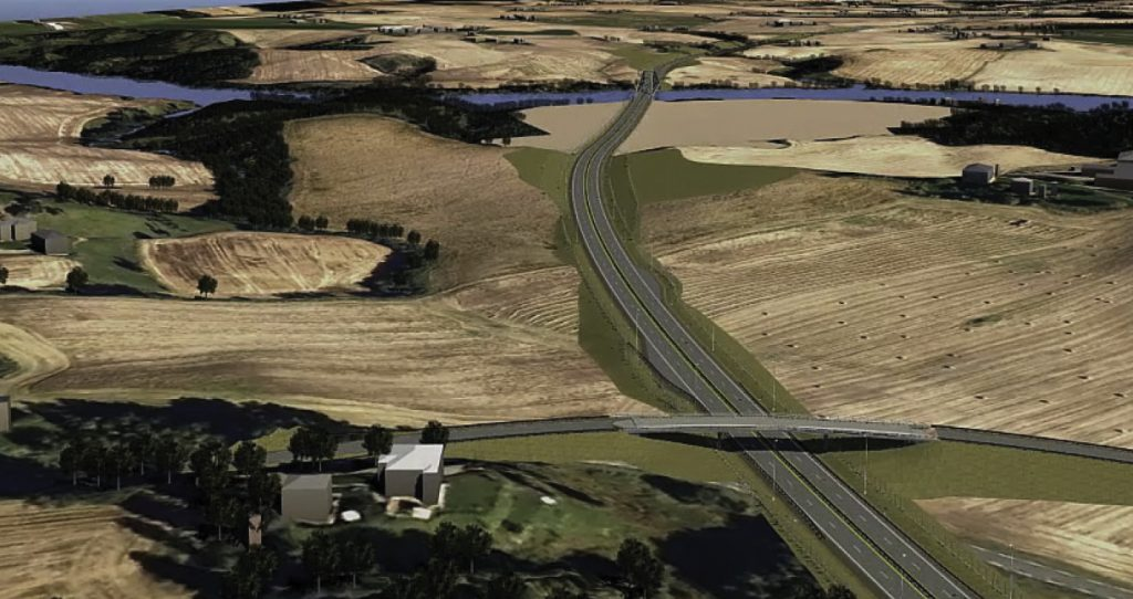 InfraWorks 360 image of the E16 is a 610-mile long highway stretching from Northern Ireland to Sweden, with 220 miles comprising the fastest route from Oslo to Norway's western fjords