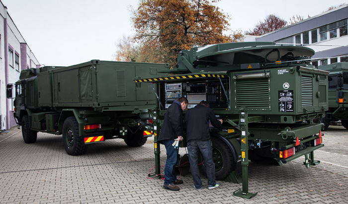 Airbus Defence and Space showcased its newly developed Mobile General Ground Station at the 2016 Warsaw NATO Summit
