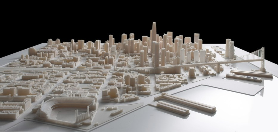 Andrew Godwin has created a landscape of London by combining mapping and 3D printing.