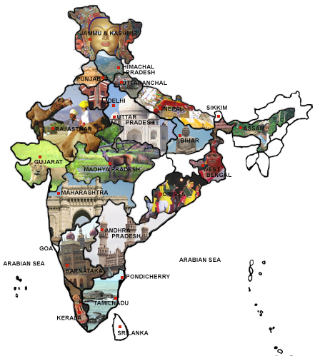 The cultural ministry of India is mapping the cultural topography of India