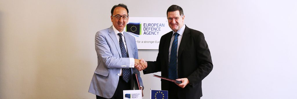 European Defence Agency (EDA) and European Union Satellite Center (SATCEN), letters have been exchanged to increase cooperation between the two agencies