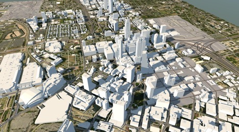CyberCity 3D Model of Atlanta, GA in InfraWorks 360
