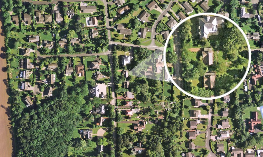 High resolution aerial images are giving viewers of Channel 4's new home design programme 'Inside out Homes' a bird's eye view of the properties being transformed.