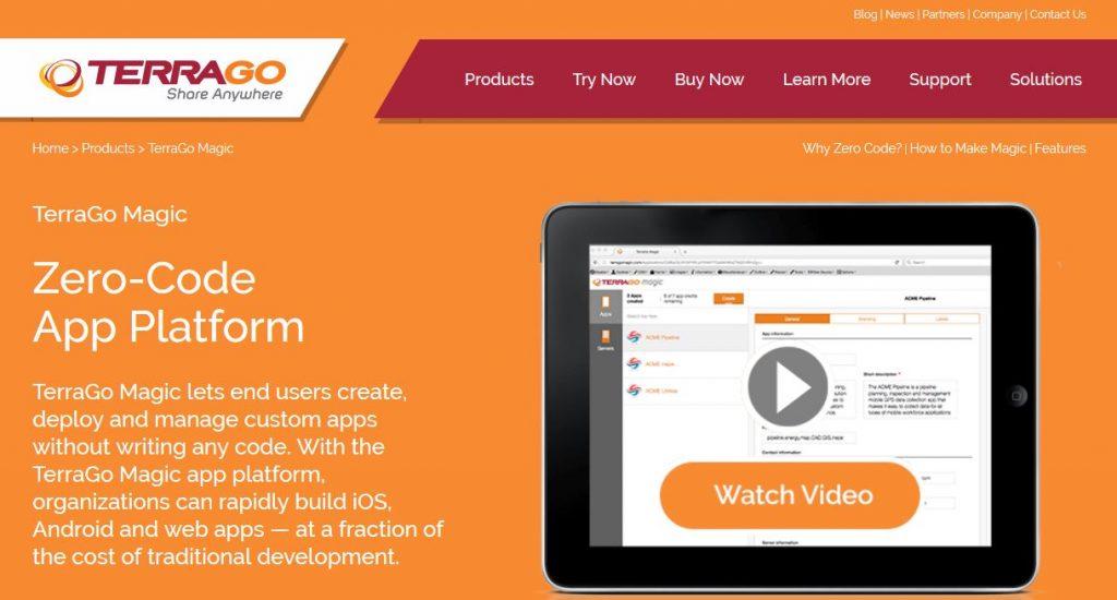 TerraGo has unveiled its TerraGo Magic, a zero-code app platform.