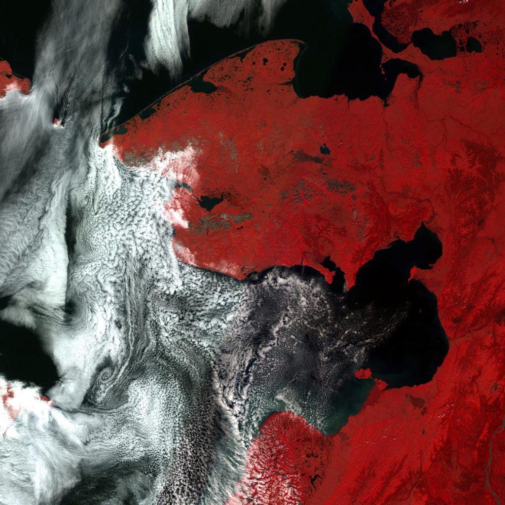 Resource-2 AWiFS image over Norton Bay, Alaska. July 2016.