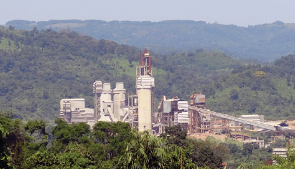 Cement factory in Lumshnong, Meghalaya, India - environment forest degradation