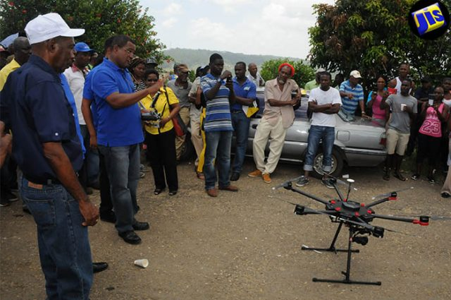 The Ministry of Industry, Commerce, Agriculture and Fisheries is taking drone technology to farmers and demonstrating the use and its applicability.