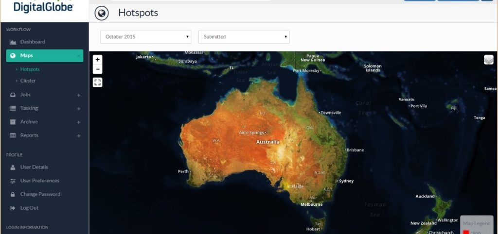 DigitalGlobe has received a contract to map the man-made environment of the entire Australian continent from PSMA Australia.