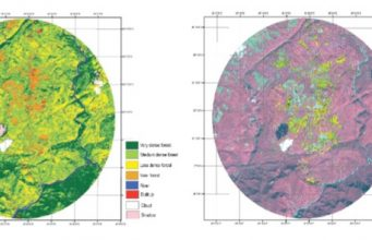 supervised image classification - forest data using ERDAS, Meghalaya, India, NESAC