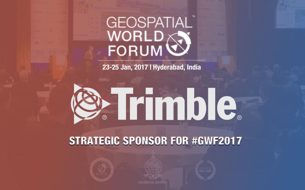 Geospatial Media and Communications has announced that Trimble Navigation Limited as a Strategic Sponsor at Geospatial World Forum 2017 that is scheduled to take place from January 23th- 25th, 2017, in Hyderabad, India.