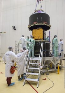 Airbus Defence and Space developed PerúSAT-1 satellite is ready for launch from the European spaceport in Kourou, French Guiana, on 16 September 2016.