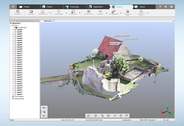 FARO has released its fully integrated point cloud to 3D mesh engine, FARO SCENE Version 6.1.
