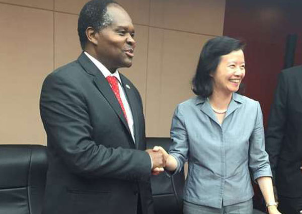 University of Nairobi Vice-Chancellor Peter Mbithi and a Beijing official agree on June 24, 2016 to sign a deal for the construction of the Confucius Institute building at the institute. UoN has constructed a satellite that will facilitate research work at the institution.