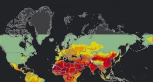 interactive map on world air pollution