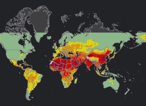 Air Map Of The World.Who Releases Interactive Map On World Air Pollution Geospatial World