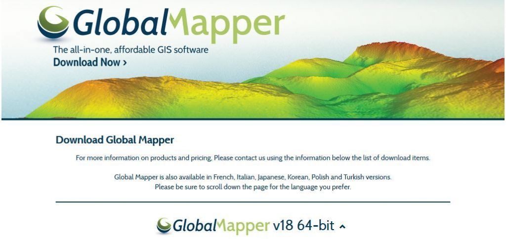 Blue Marble Geographics has made an update available on Global Mapper LiDAR Module, which has been made available with full range 3D Point Cloud Display.